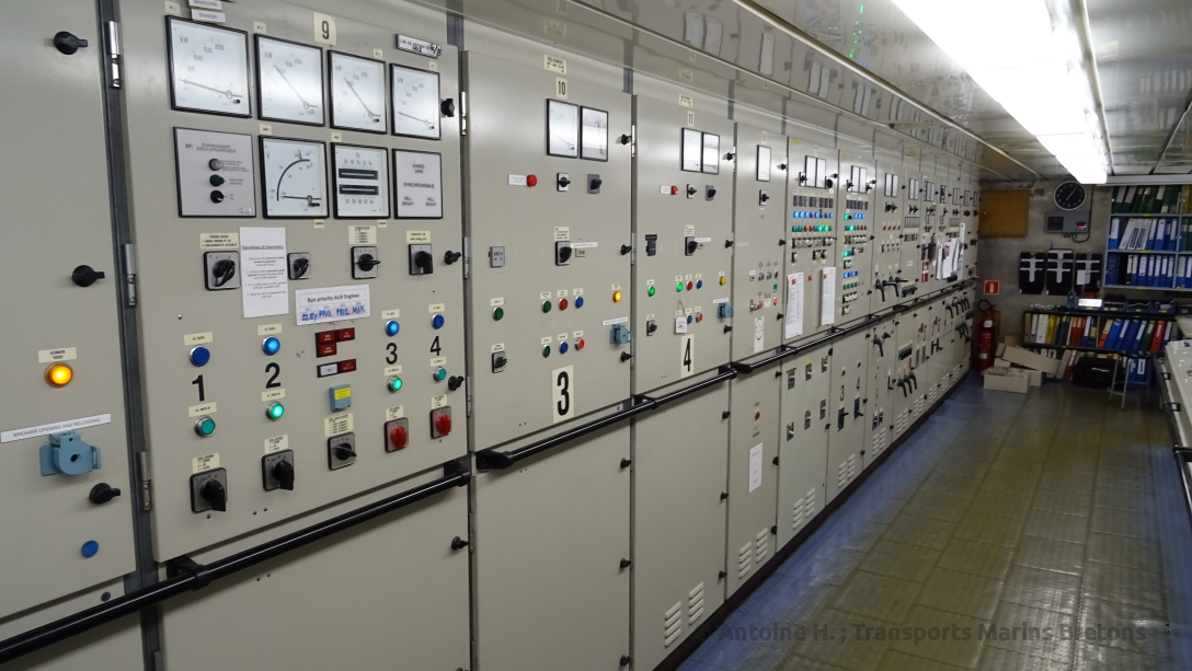 Generators' contro panel on board King Seaways.
