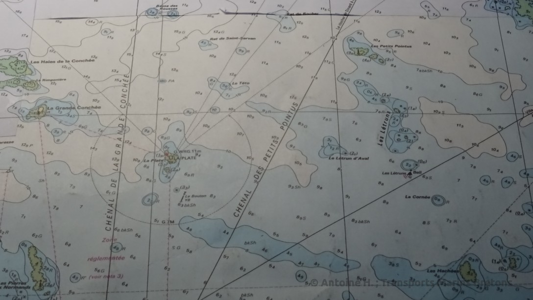 The chart featuring the Petit Pointus channel