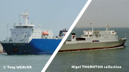 Ships chartered during a few weeks by Condor Ferries.
