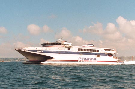 Condor 10 at sea. Ian BOYLE collection (Simplon Postcards).