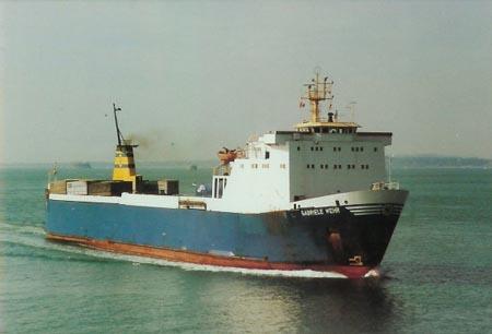 Gabriele Wehr at sea.