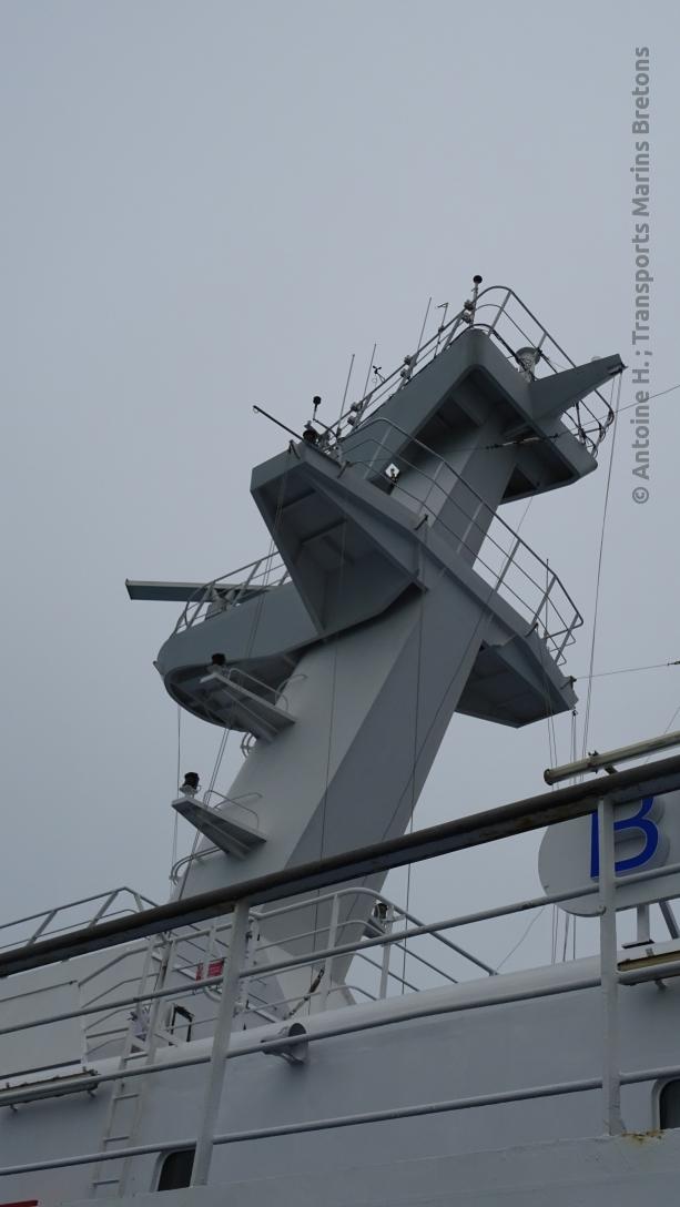 The radar mast