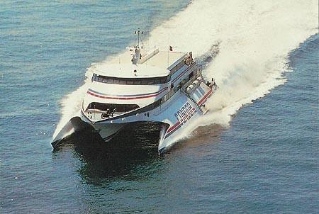 Condor 9 at sea.