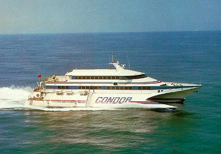 Condor 9 at sea. Picture Condor Ferries.