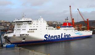 Stena Baltica, former-Cotentin, in her Stena Line's livery.