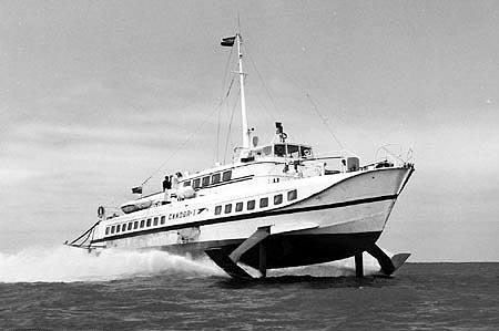Condor 1 at sea.