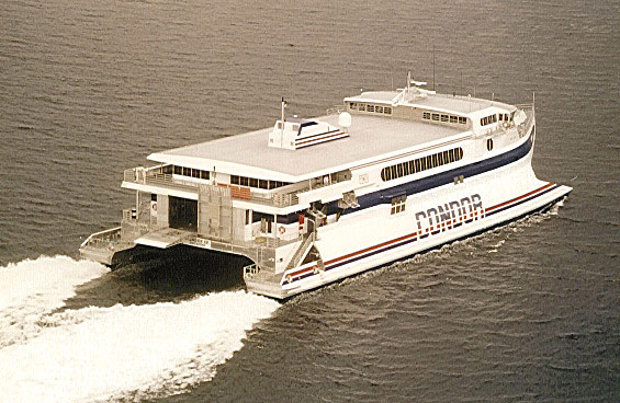 Condor 10 at sea. Picture Incat (Mickael KOEFEN-HANSEN collection - The Ferry Site).