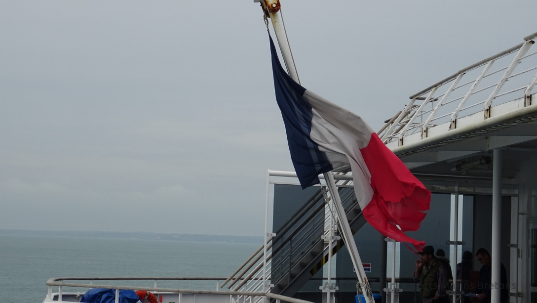 French flag, recalling Bretagne is registered in Morlaix, France