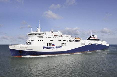 An artist impression of M/V Connemara, made after a picture of Brittany Ferries chartered Etretat, which is a sistership of Connemara.