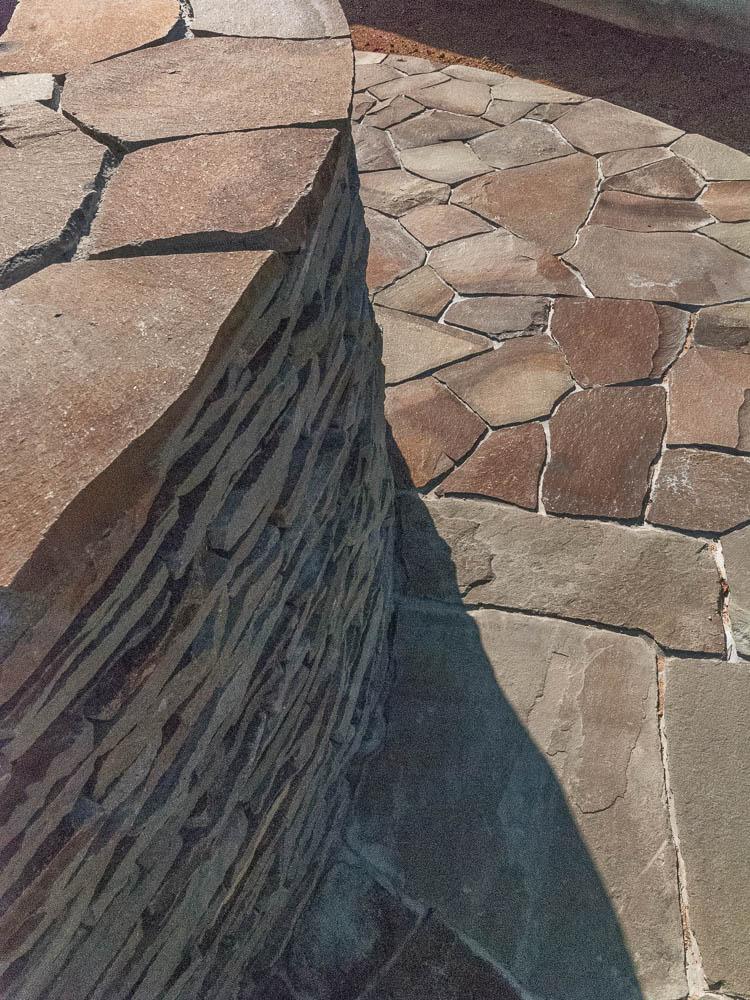 ジャワ鉄平石積み