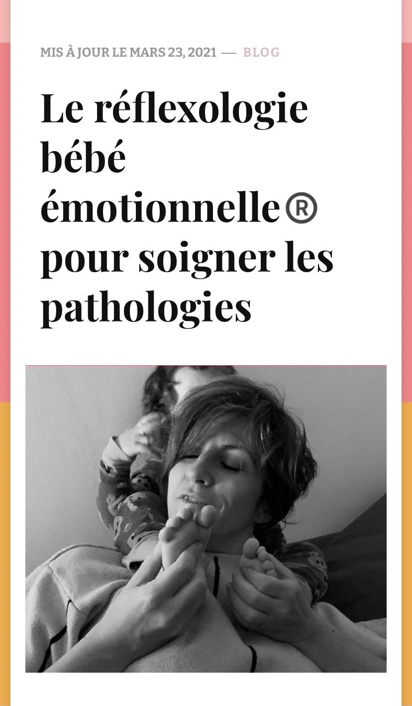 La Réflexologie bébé émotionnelle®
