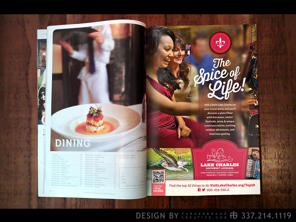"The ""Spice of Life"" print media campaign that received the Gold & Best of Show ADDY© Awards"