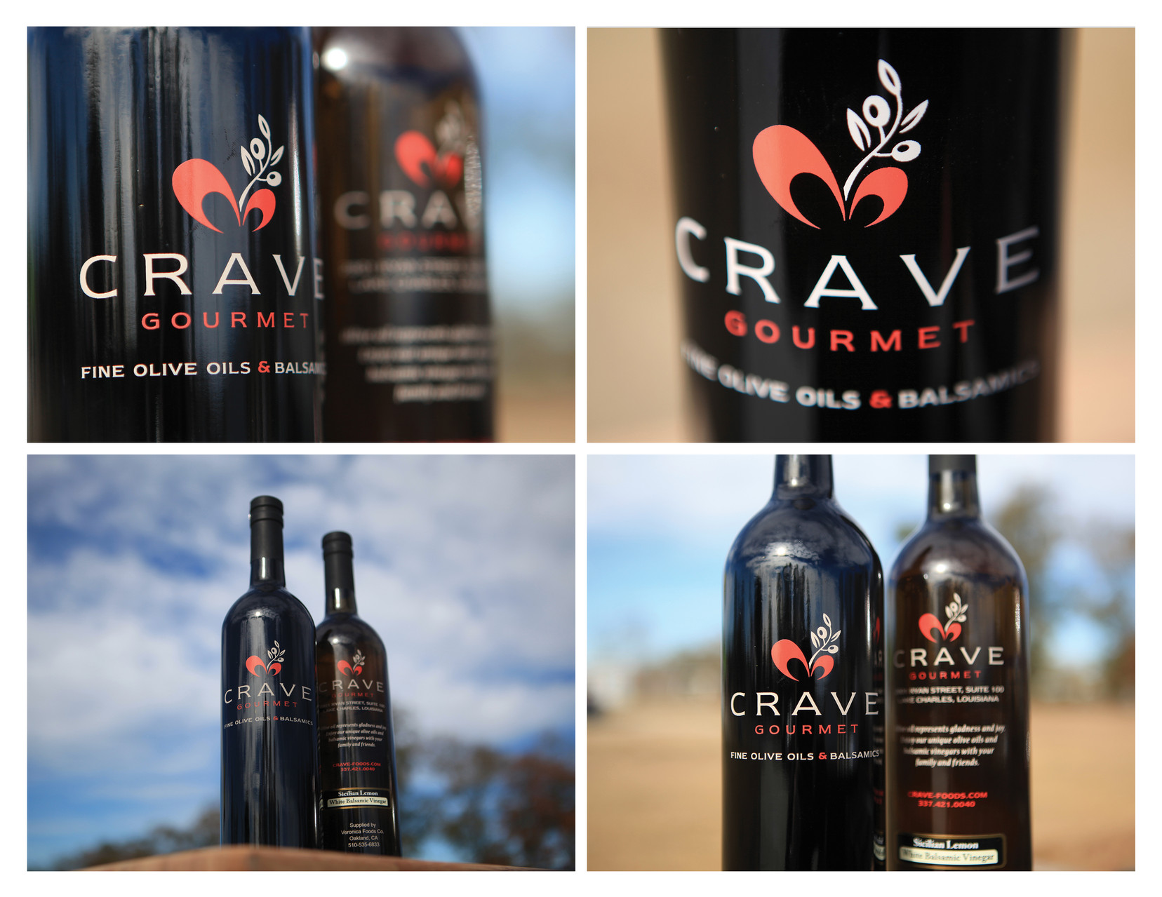 Crave Oil & Vinegar Bottle - Bronze ADDY©