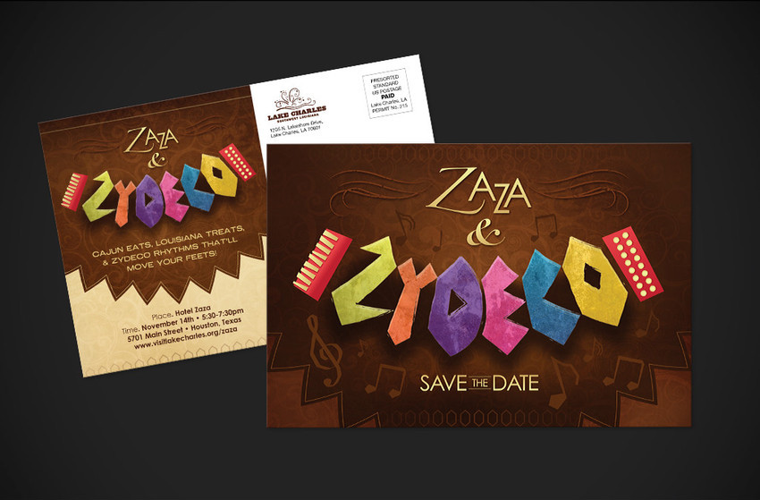 ZaZa & Zydeco Invitation - Bronze ADDY©