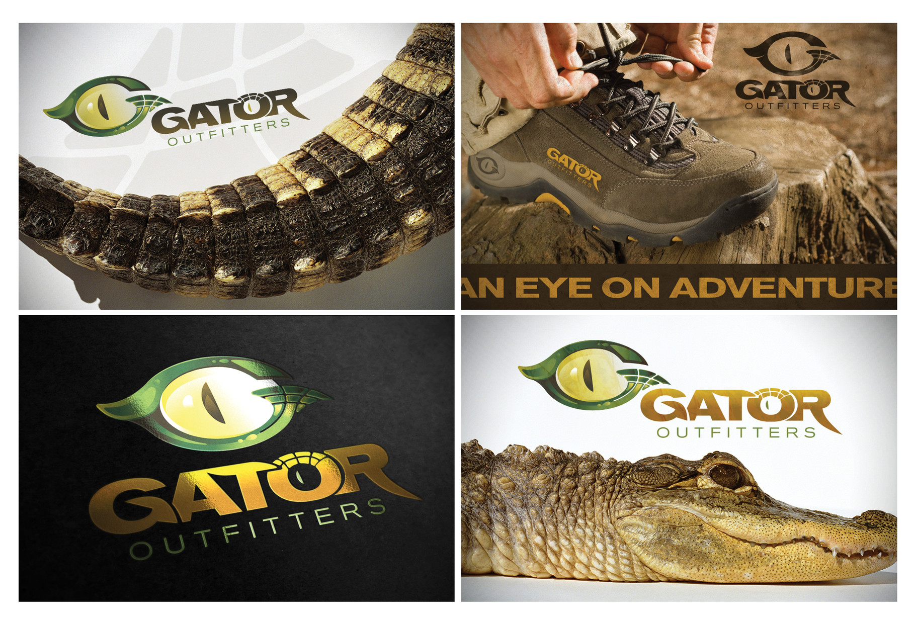 Gator Outfitters Logo - Gold ADDY© & Best Logo
