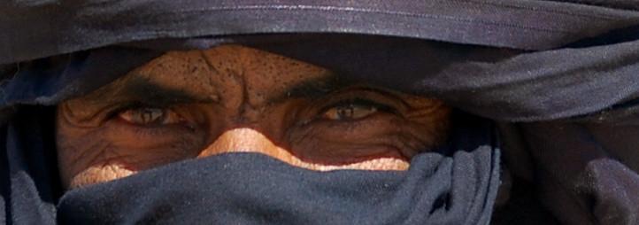 La profonditá dello sguardo di questo Tuareg, incontrato nell'Erg Medjebat in Algeria