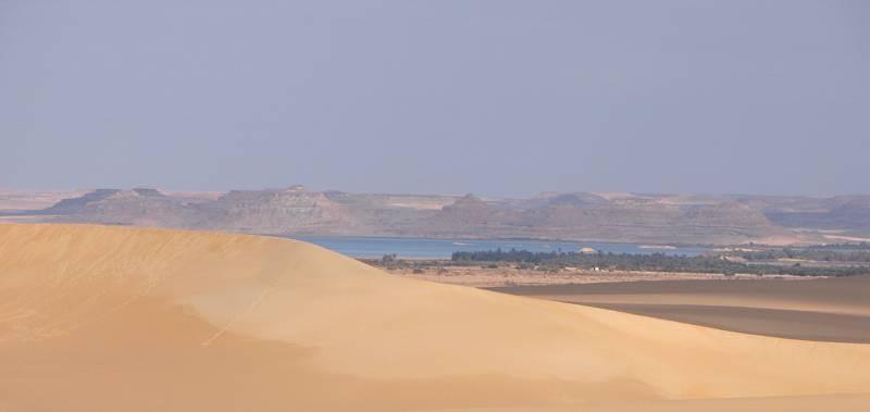 L'oasi di Siwa vista da sud