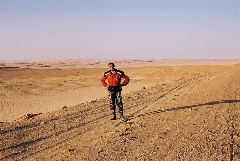 Nel 2000 in Egitto durante il Raid delle Oasi in moto