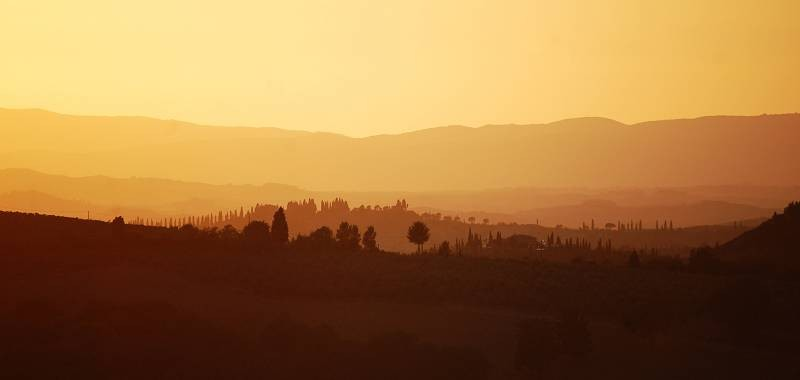 Tramonto nelle Crete