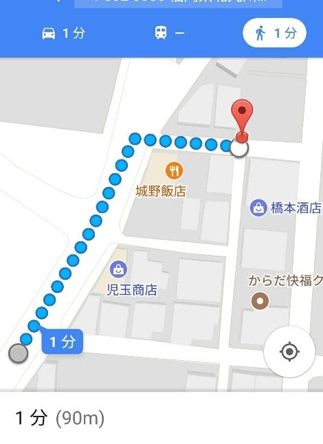 駐車場からはこのルートが近道です