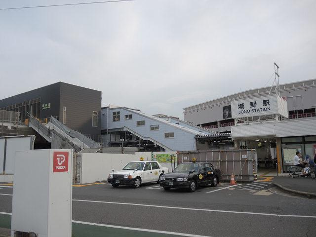 工事中のJR城野駅