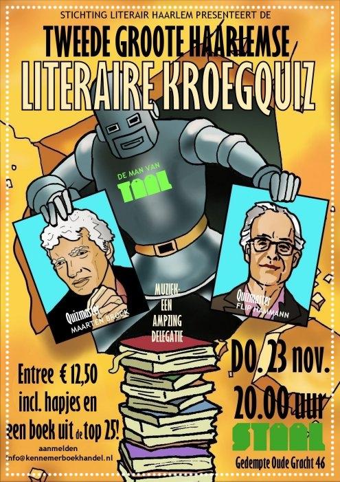 2e literaire kroegquiz op 23 november 2017. Info en kaarten: info@kennemerboekhandel.nl