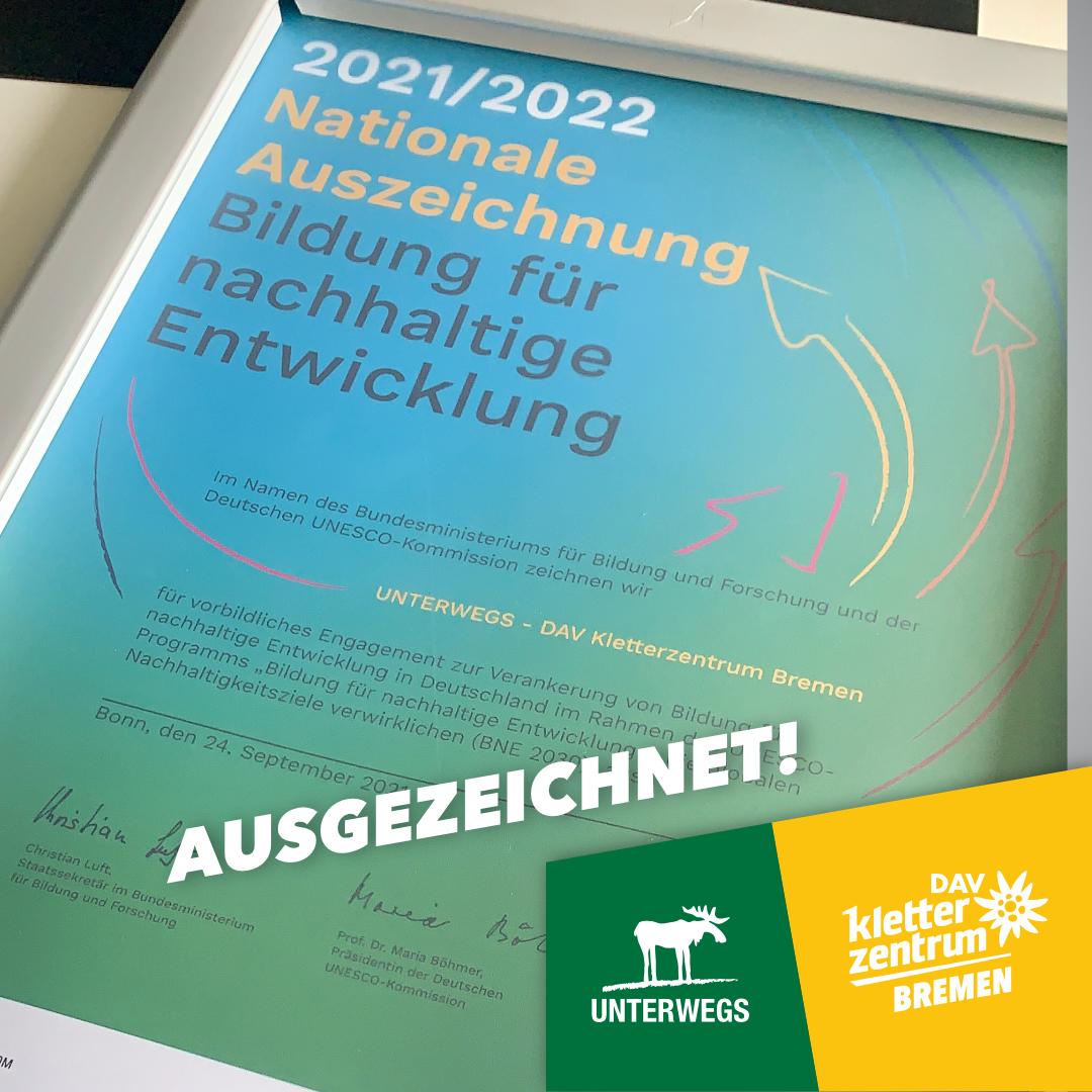 Auszeichnung: Bildungsinitiativen für nachhaltige Entwicklung