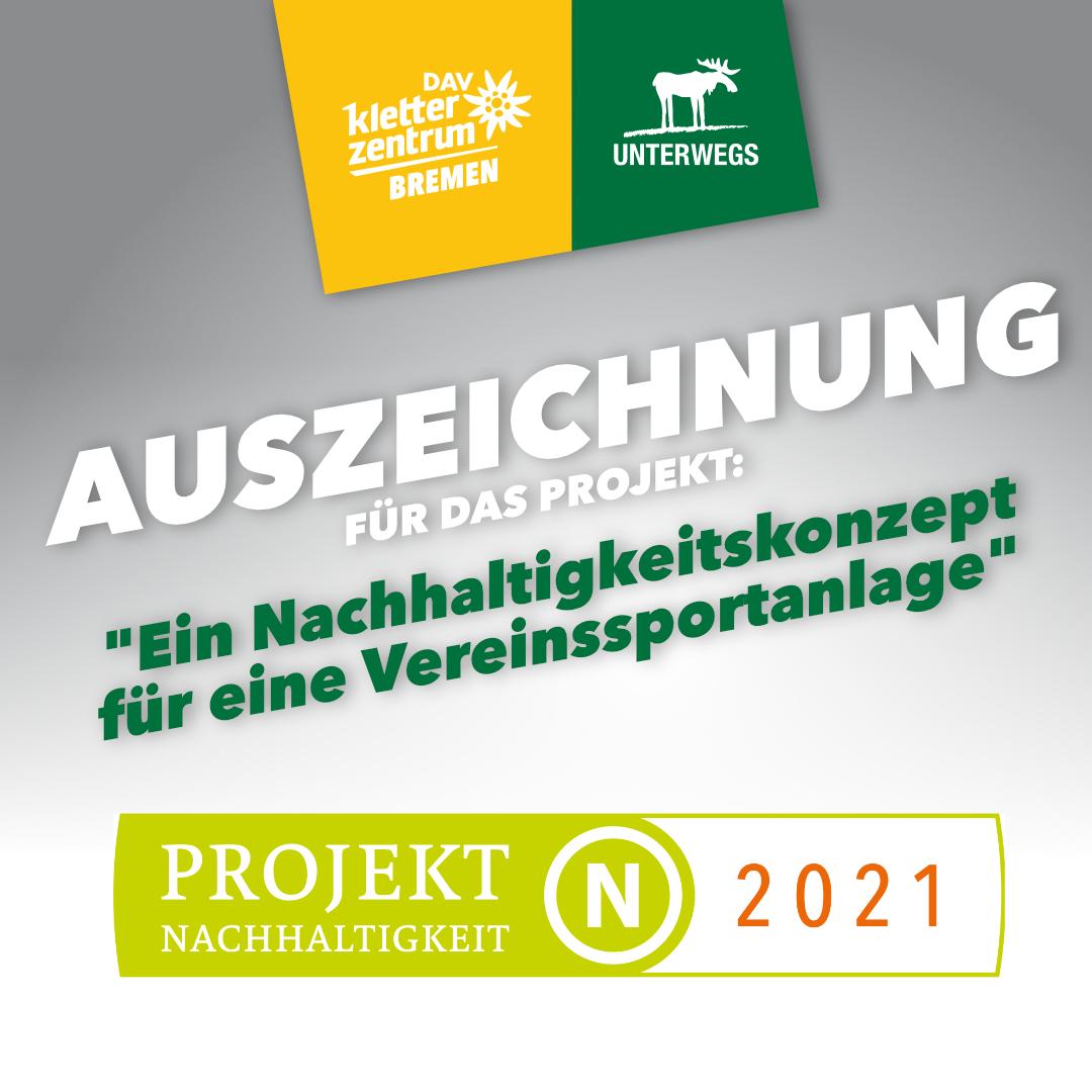 """Auszeichnung:  """"Projekt Nachhaltigkeit 2021"""""""