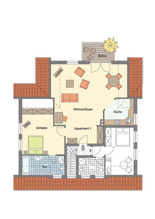 Grundriss DG 90 qm Wohnung