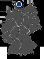 Grafik: Immobilienposition auf Deutschlandkarte: Am alten Bootshafen, Kiel / Copyright DEUTSCHE IMMOBILIEN Entwicklungs GmbH