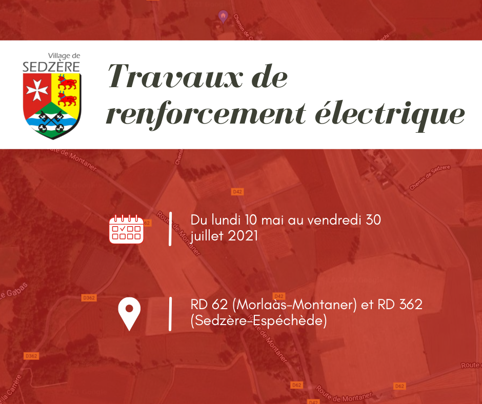 Travaux de renforcement électrique RD62 et RD362