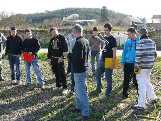 Visite d'une ferme céréalière en agriculture  biologique - Bac Pro CGEA
