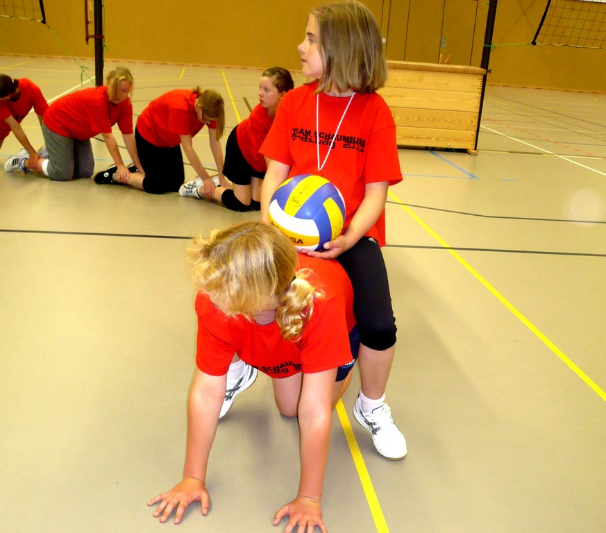 Die Volleyballraupe formiert sich