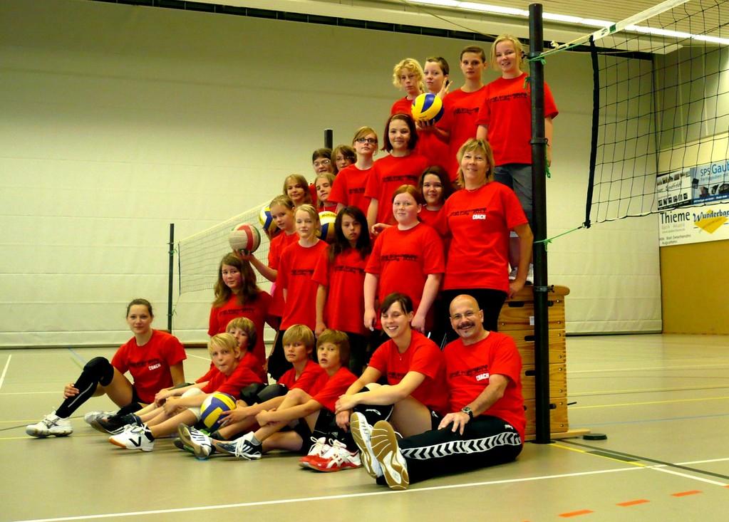 Alle stillhalten für das Gruppenfoto, Trainingslager Westerstede 2011