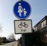 Radfahren, wo es erlaubt ist