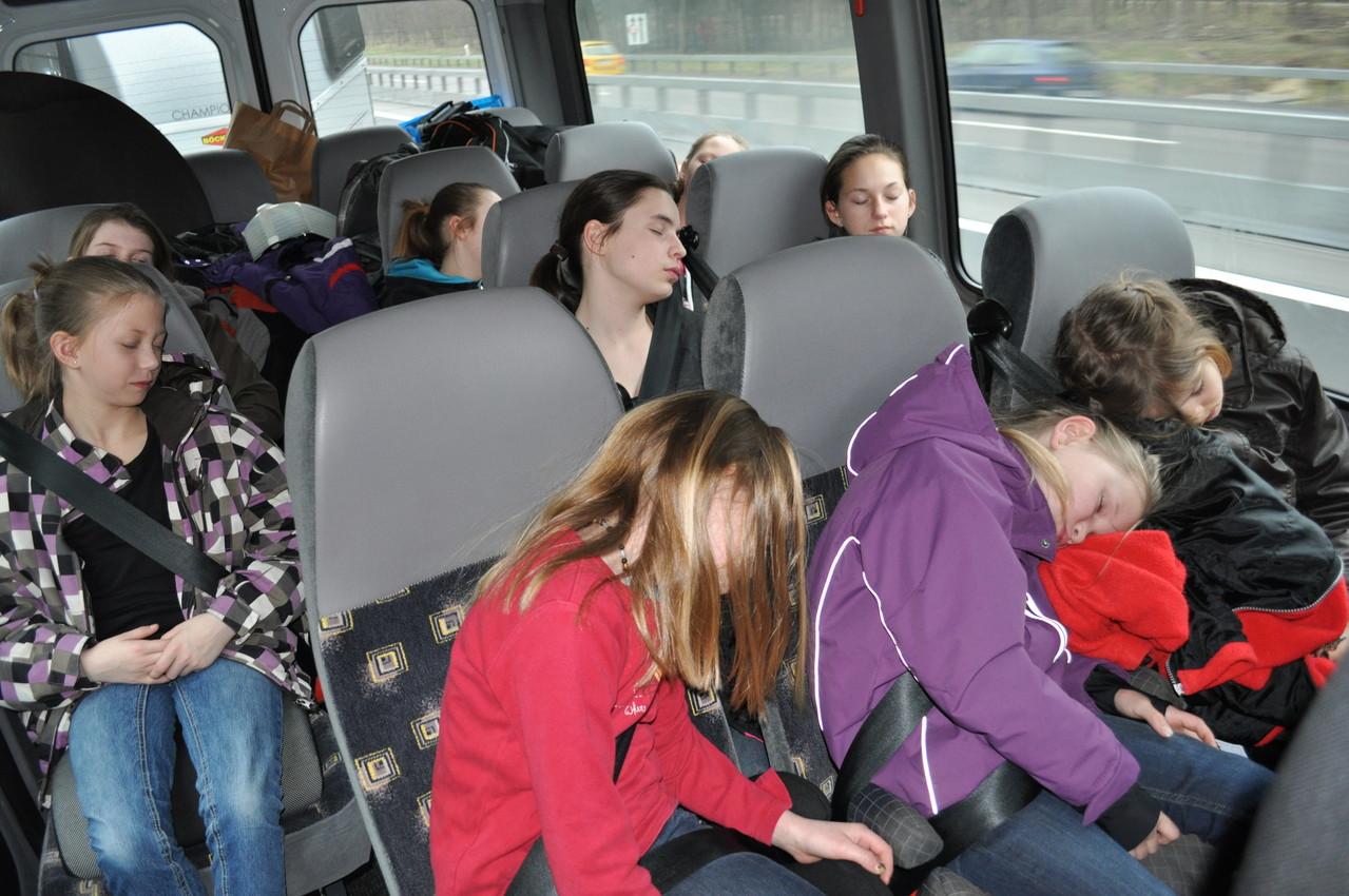 Auf dem Heimweg schliefen alle - oder taten zumindest so ;-)