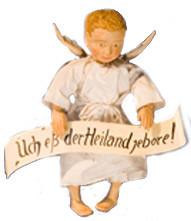 Der Verkündigungsengel der Milieukrippe in Sant Maria in Lyskirchen, Köln