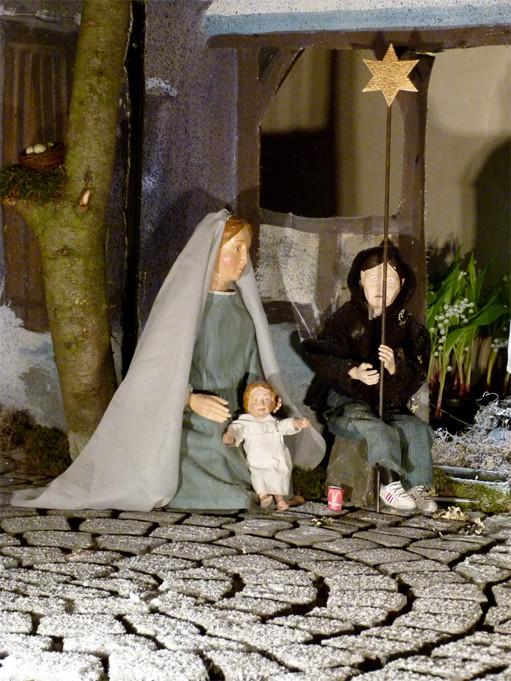 Milieukrippe Sankt Maria in Lyskirchen Köln Foto Matthias Schnegg