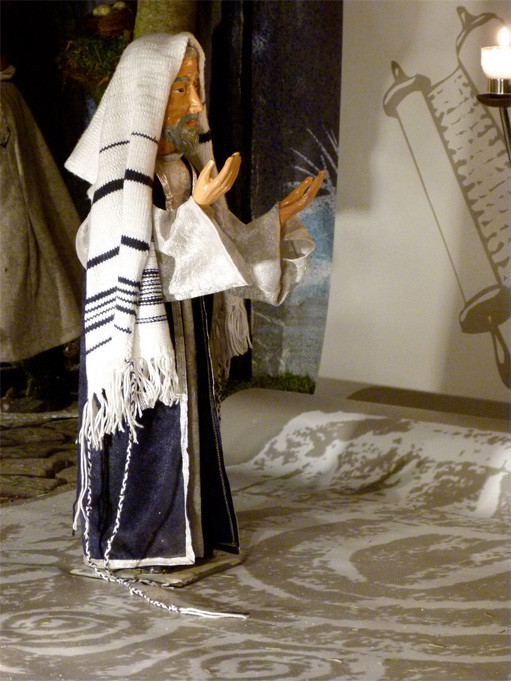 Der greise Simeon wartet im Tempel auf den Herrn Milieukrippe sankt Maria in Lyskirchen