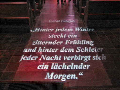 Miliekrippe Lyskirchen Kahlil Gibran Maria in Lyskirchen