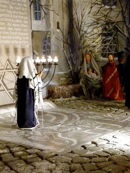 Maria Josef jesus auf dem weg zum tempel miliekrippe lyskirchen