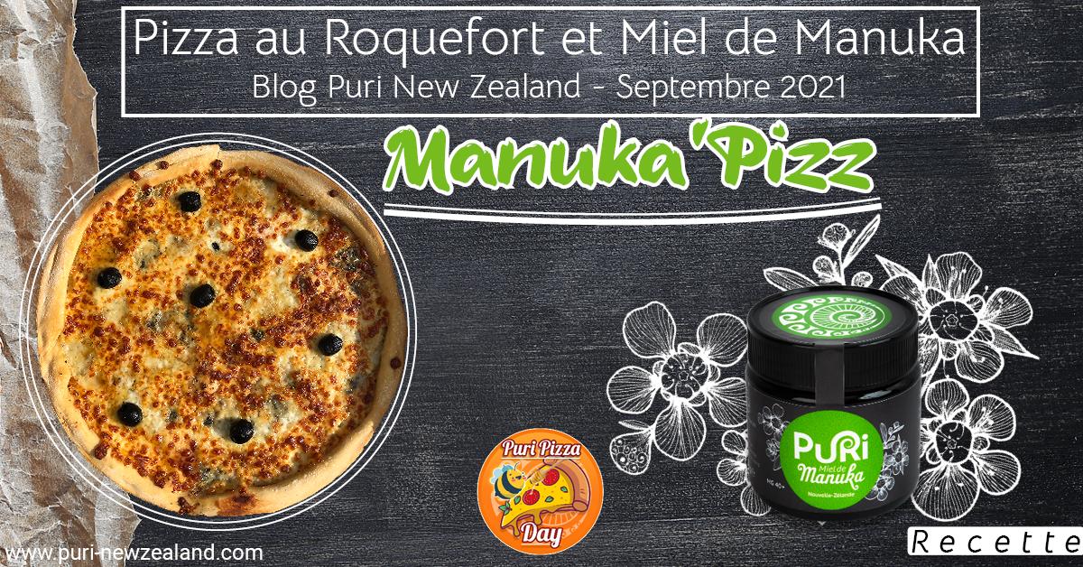 Pizza au Roquefort et Miel de Manuka
