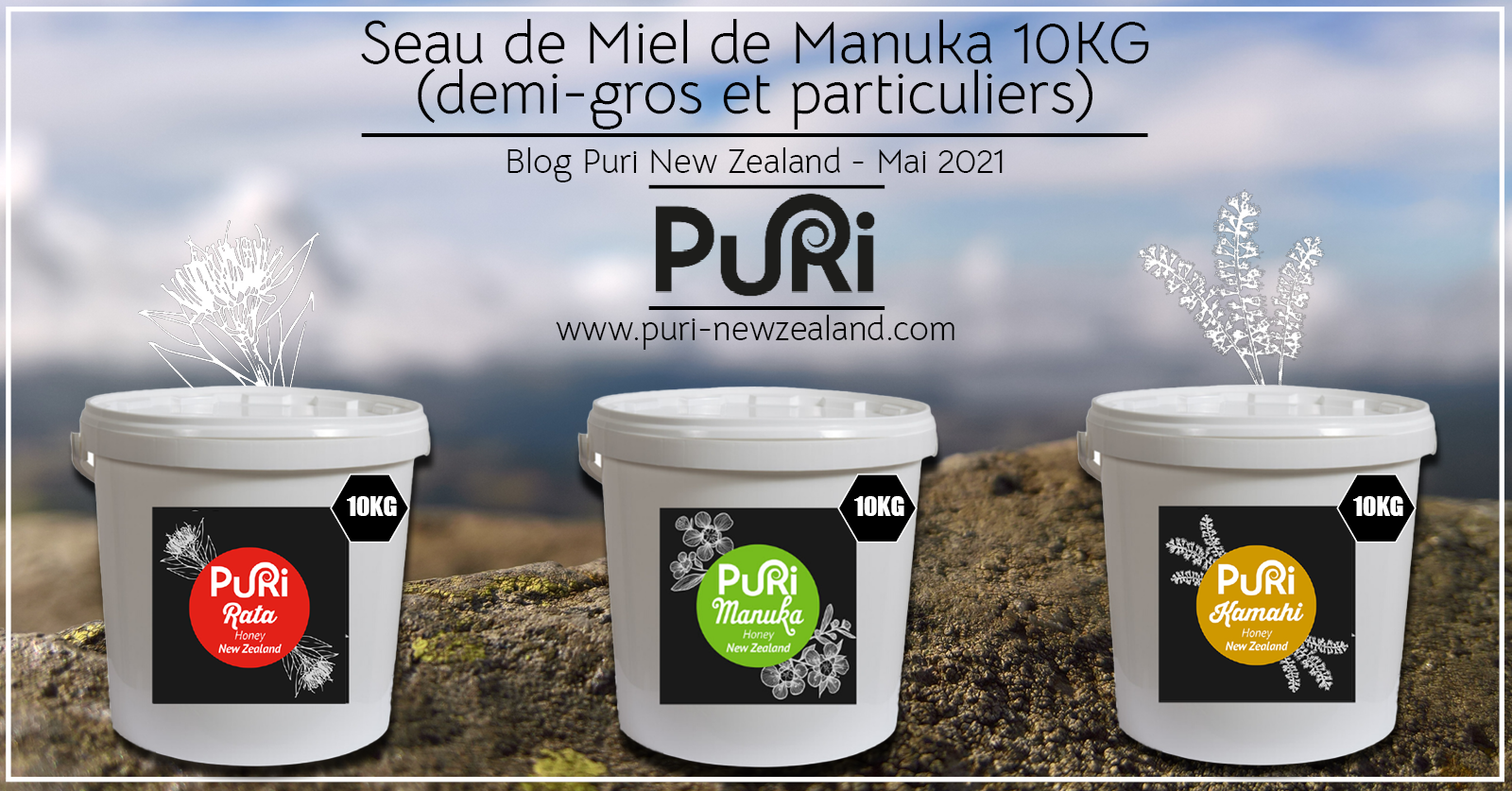 Seau de Miel de Manuka 10kg (demi-gros et particuliers)