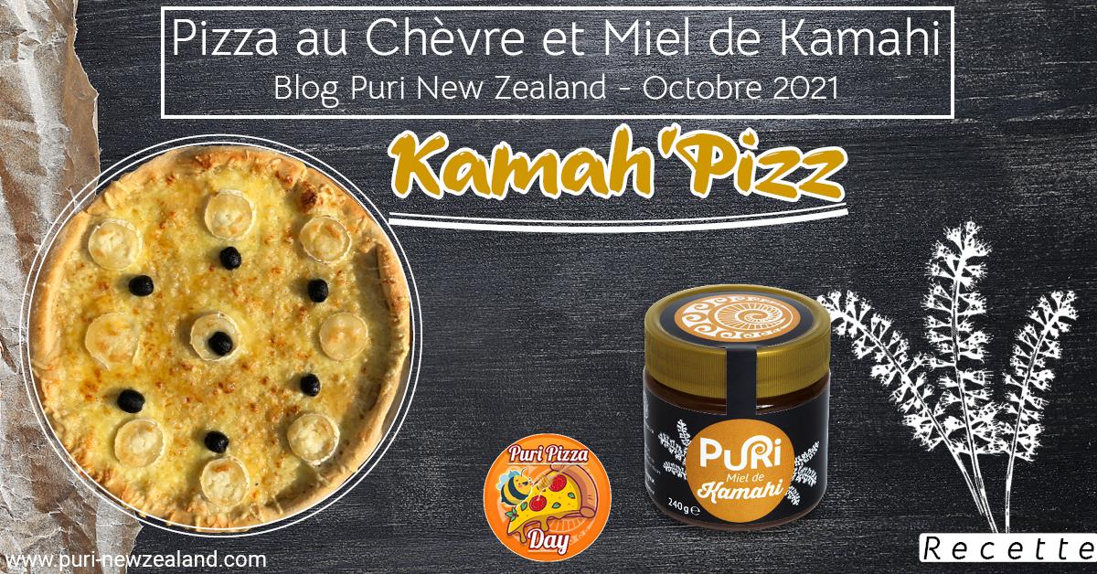 Pizza au Chèvre et Miel de Kamahi
