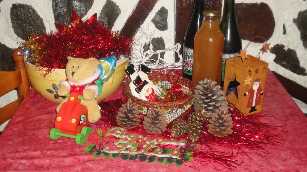 A Noël, nous fournissons les décorations à nos hôtes