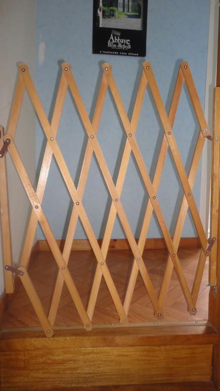 Gîte enfant : Barrière de protection à l'étage