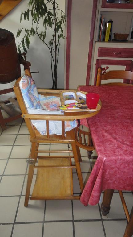 Gîte bébé : Chaise haute