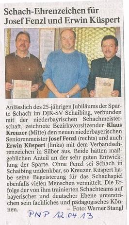 07.04.13, Untergriesbach, Silberne Ehrennadel für Josef FENZL und Erwin KÜSPERT,
