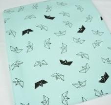 Bateaux origami vert menthe