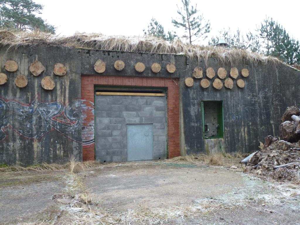 Umgebauter Bunker als Fledermaus-Winterquartier im Januar 2012